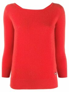 Emilio Pucci boat neck cashmere jumper - ORANGE