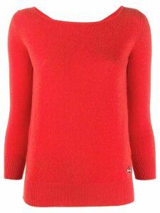 Emilio Pucci boat neck cashmere jumper - ORANGE