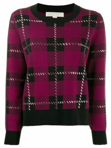 Michael Michael Kors plaid embellished jumper - PINK