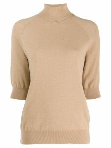 MRZ short-sleeve roll neck sweater - Neutrals