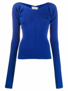 MRZ ribbed knit sweater - Blue