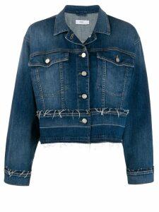 Closed frayed details denim jacket - Blue