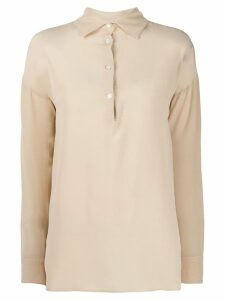 Barena long-sleeved polo shirt - NEUTRALS