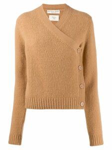 Bottega Veneta buttoned wrap over cardigan - NEUTRALS