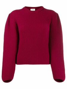 Lemaire ribbed knit jumper - Red
