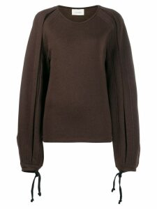 Lemaire tied cuffs jumper - Brown