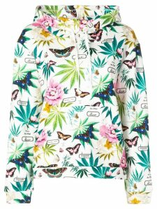 Fleur Du Mal relaxed-fit printed hoodie - White