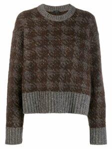Joseph patterned jumper - Brown