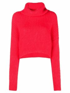 3.1 Phillip Lim Cropped Turtleneck Sweater - Red