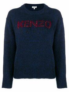 Kenzo embellished logo sweater - Blue