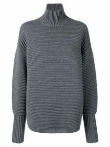Victoria Victoria Beckham curved sleeve turtleneck - Grey
