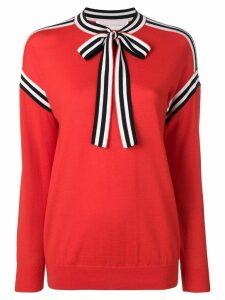 Victoria Victoria Beckham neck tie sweater - Red