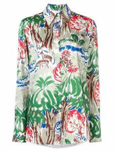 Victoria Victoria Beckham classic jungle shirt - Green