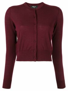 Paule Ka round neck cardigan - Red