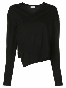 Rosetta Getty wrap front sweater - Black