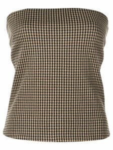 Rosetta Getty check print bandeau top - Brown