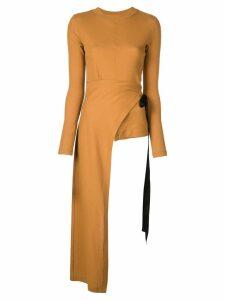 Rosetta Getty longsleeved apron T-shirt - Brown