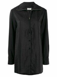 Lemaire zipped shirt - Black