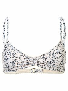 Peony Ruched Bralette - White