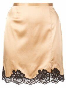 Fleur Du Mal James lace detail mini skirt - GOLD