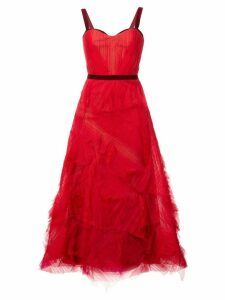 Marchesa Notte embellished tulle gown - Red