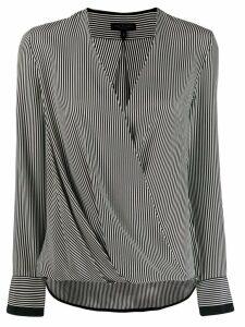 Rag & Bone striped draped top - Black