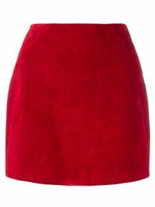 Saint Laurent suede mini skirt - Red