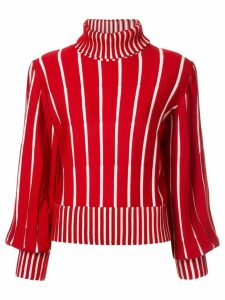 MSGM striped knit jumper - Red