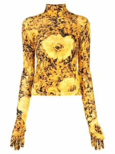 Richard Quinn turtle neck jumper - Yellow