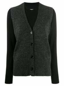 Mm6 Maison Margiela layered vest jumper - Black