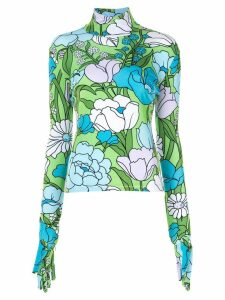 Richard Quinn floral print blouse - Green
