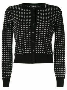 Paule Ka contrast knit cardigan - Black