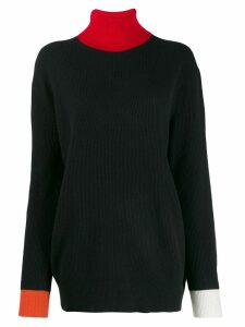 Woolrich colour-block knit sweater - Black