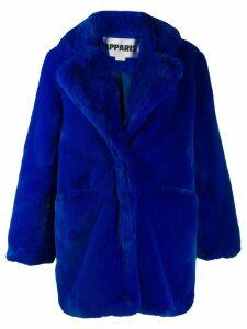 Apparis Sophie faux fur coat - Blue