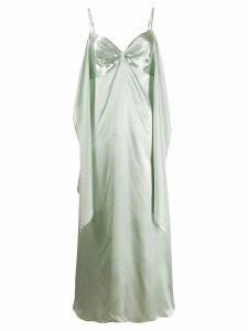 Mm6 Maison Margiela glossy midi dress - Green