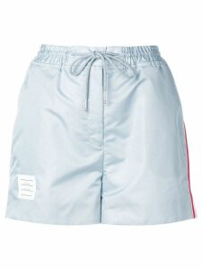 Thom Browne Ripstop Track Shorts - Grey