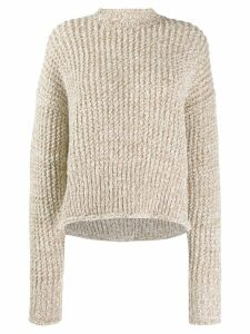 Jil Sander open-knit sweater - Neutrals