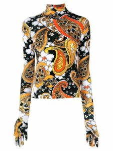 Richard Quinn paisley print blouse - ORANGE