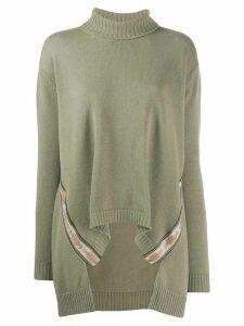 Etro draped turtleneck jumper - NEUTRALS