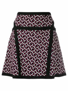 Michael Michael Kors geometric print skirt - Black