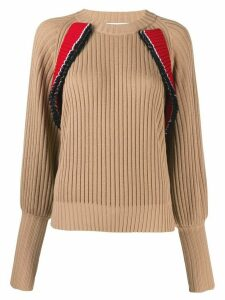 MSGM knitted wool sweatshirt - Neutrals