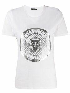 Balmain logo medallion T-shirt - White