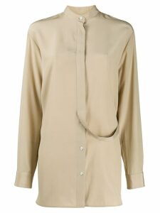 Jil Sander belted button-down shirt - NEUTRALS