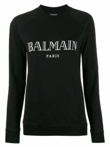 Balmain vintage logo print sweatshirt - Black