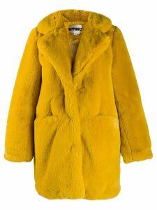 Apparis Sophie faux fur coat - Yellow