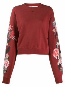 Off-White floral print sweatshirt - Red