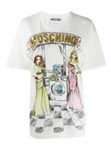 Moschino sequined multicoloured print T-shirt - White