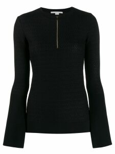 Stella McCartney chevron knitted top - Black