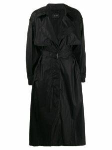 Isabel Marant concealed front trench coat - Black