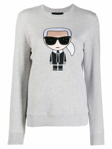 Karl Lagerfeld embroidered Karl sweatshirt - Grey